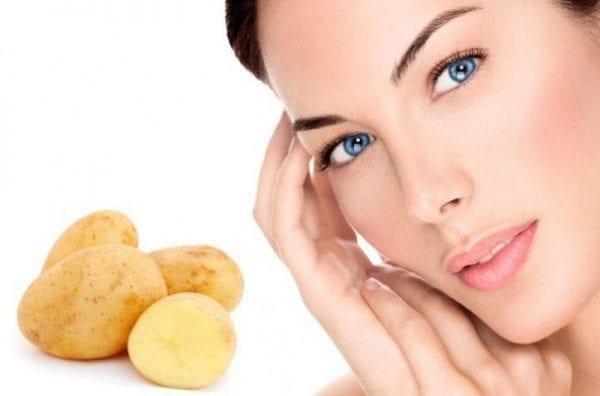 البطاطس لتفتيح البشرة